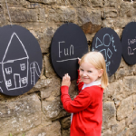 4 Pack Circular Chalkboards